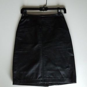 Moods by Krizia Leather Skirt
